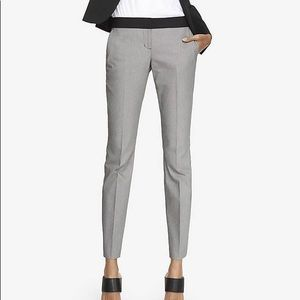Grey columnist cropped pant